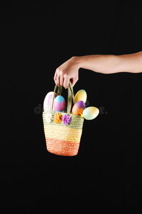 Download Woman's arm with basket. stock photo. Image of close, time - 8368114