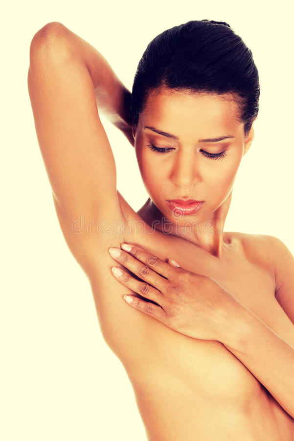 Woman's armpit royalty free stock photos