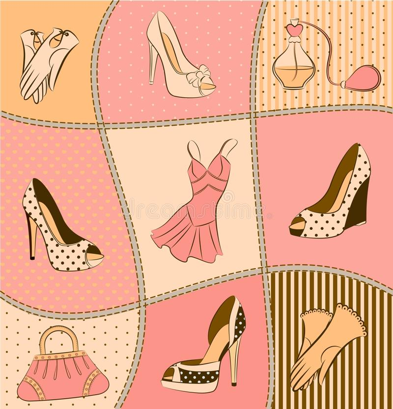 Download Woman's Bag, Perfume And Shoes Stock Photo - Image: 21175900