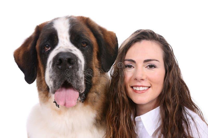 Download Woman's Best Friend Saint Bernard Stock Photo - Image of girl, open: 5409162