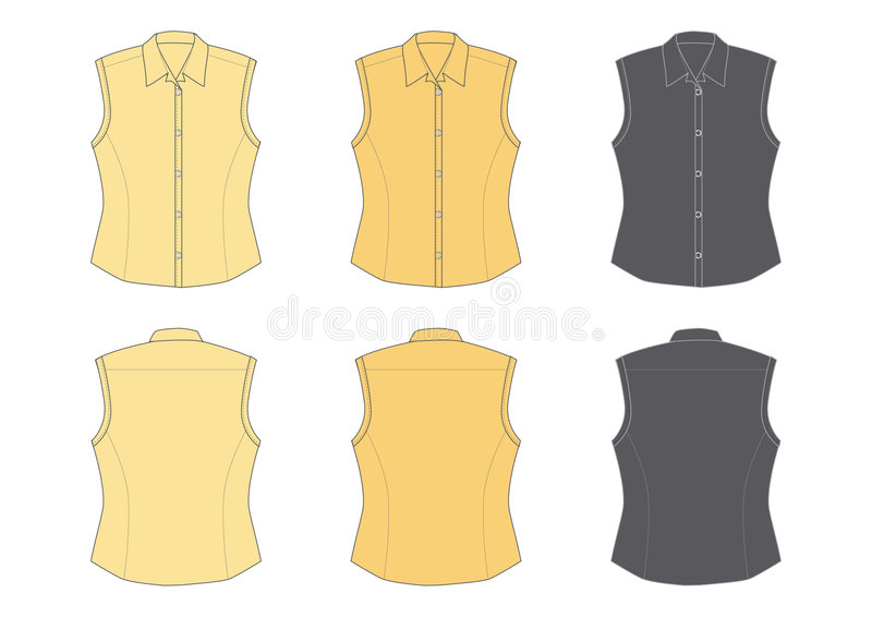 Download Woman's blouse, sleeveless stock vector. Image of yellow - 1578700