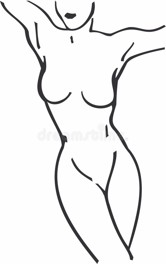 Beautiful Vector Woman Body Line Art Royalty Free Cliparts, Vectors, And  Stock Illustration. Image 59122850.