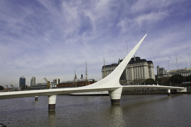 Woman's Bridge in Buenos Aires - Argentina royalty free stock photo