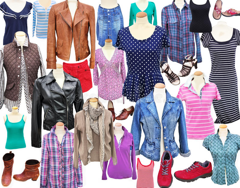 Download Woman`s clothes stock image. Image of isolated, allover - 29036739