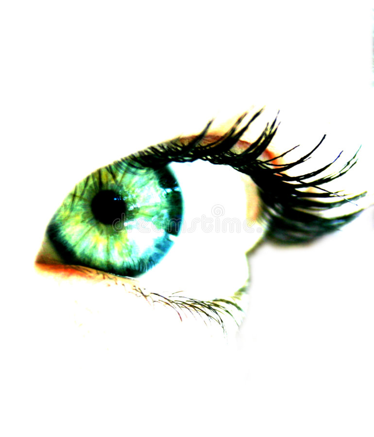 Woman's eye stock photography