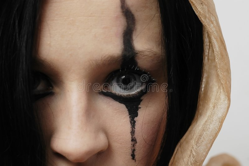 Woman's eye royalty free stock images