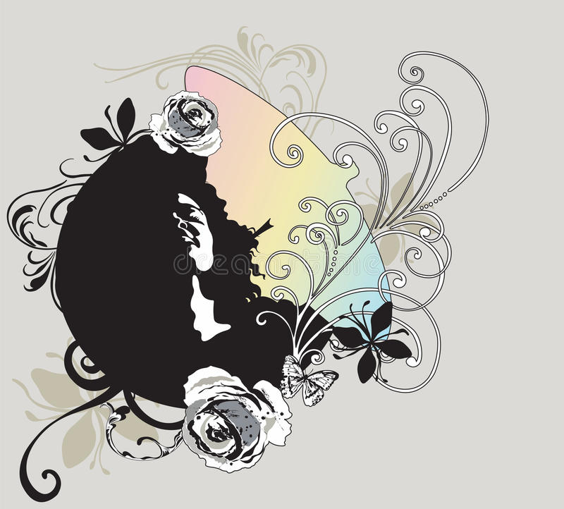 Download Woman's face stock vector. Image of graphic, scrolls - 10324167