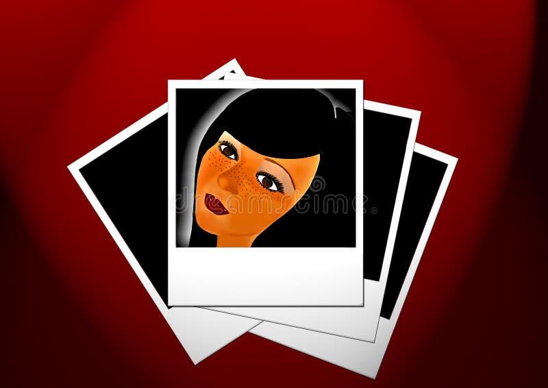 Woman' s face stock photos