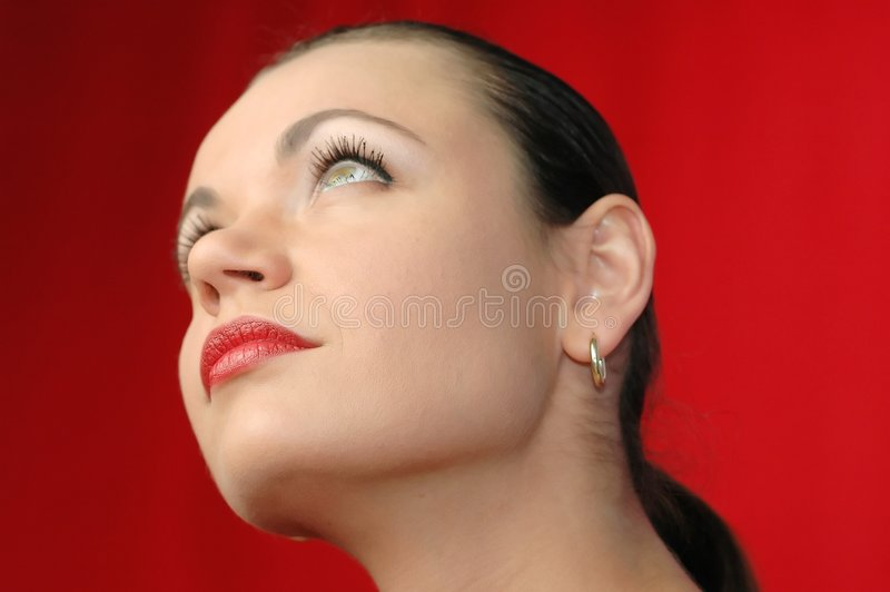 Woman's face royalty free stock photos