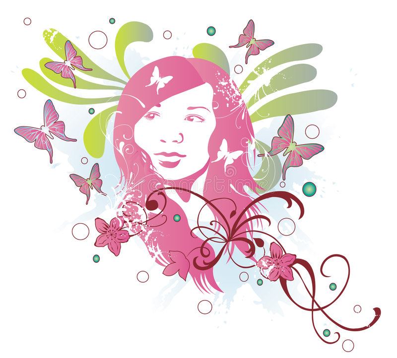 Download Woman's face stock vector. Image of vector, background - 6143956