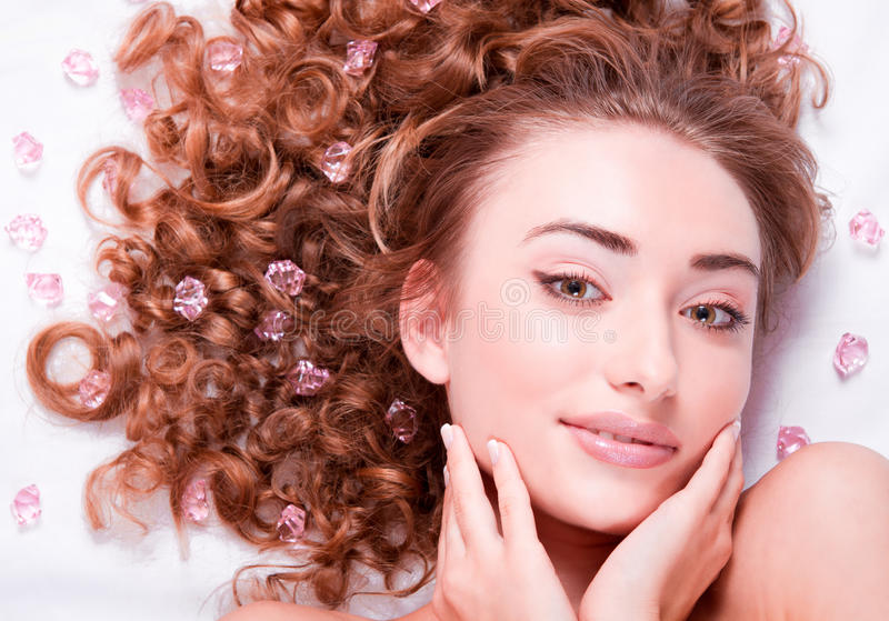 Woman's Face with make-up royalty free stock photos