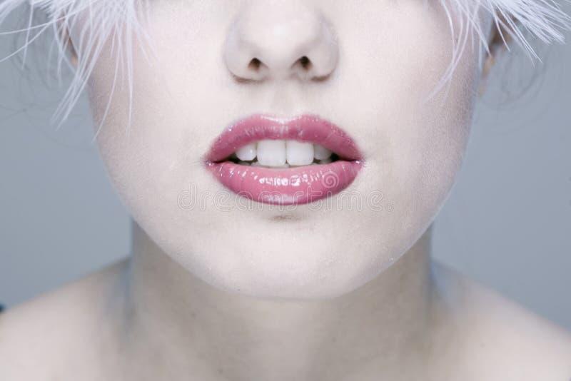Woman?s Gesicht mit den langen Wimpern lizenzfreies stockbild
