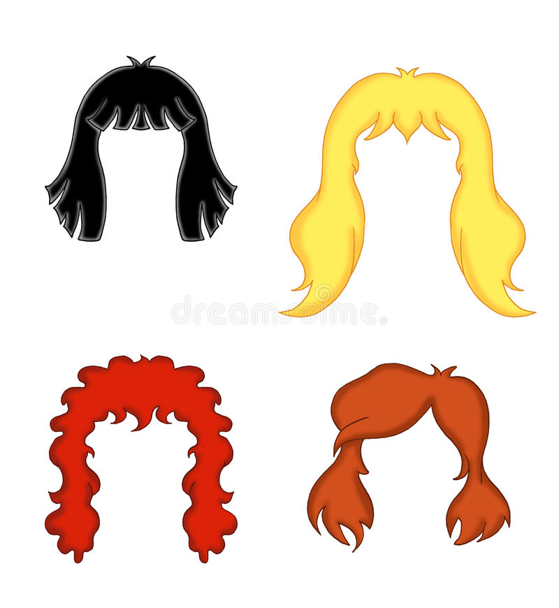 Woman's hair royalty free stock photos