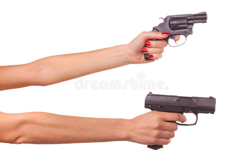 Download Woman's hand with a gun stock photo. Image of close, hold - 11966884