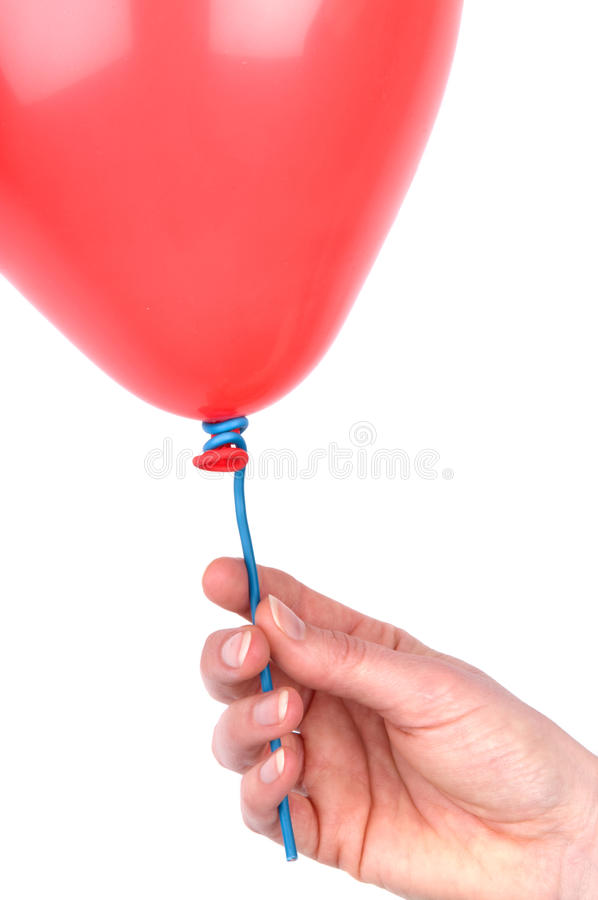 Download Woman's Hand Holding A Balloon Stock Image - Image: 13554293