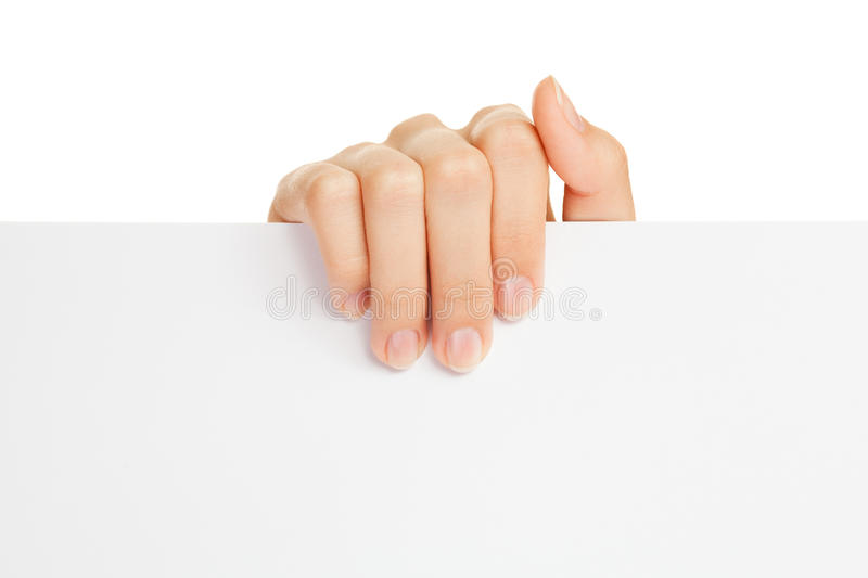 Download Woman's hand holding paper stock photo. Image of office - 25753454