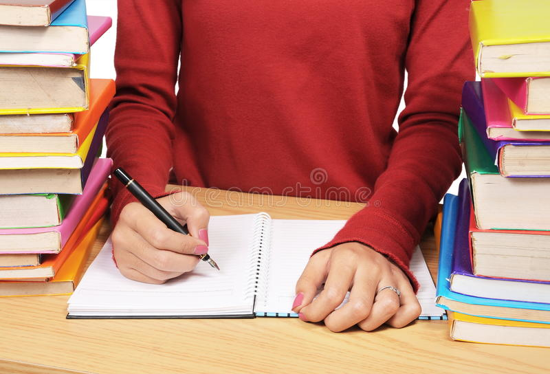 Download Woman's hand writing stock photo. Image of bright, learning - 21108750