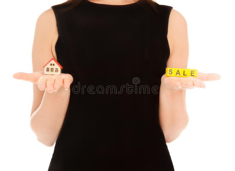 Download Woman's Hands Holding House And Keys Stock Photo - Image: 20716898