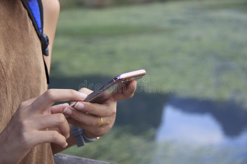 Woman`s Hands Holding Smartphone Free Public Domain Cc0 Image