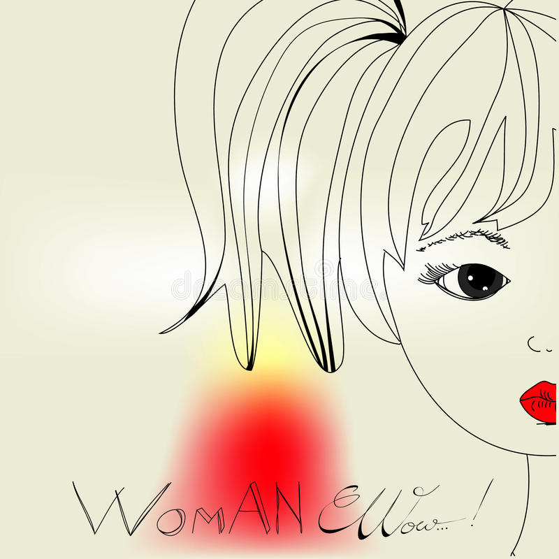 Download Woman's head stock vector. Image of glamour, white, inscription - 16258465