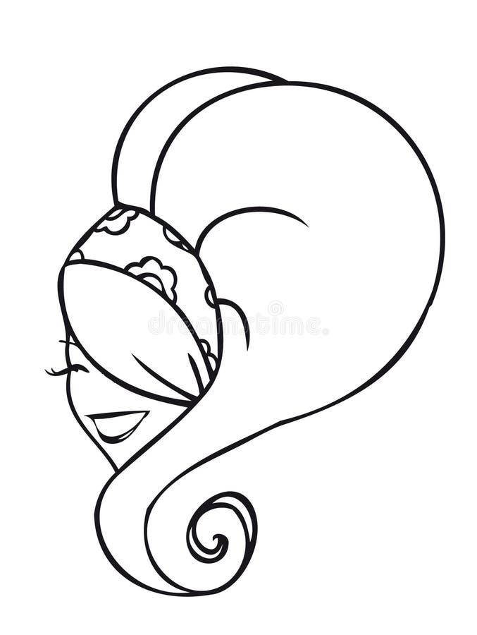 Woman's head royalty free illustration