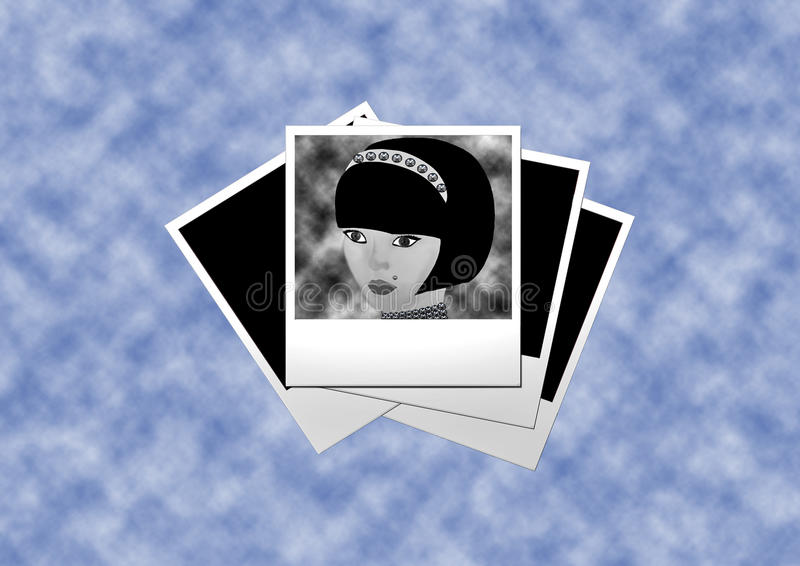 Woman' s illustration royalty free stock photo