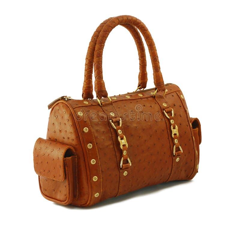 Woman's leather bag stock photos
