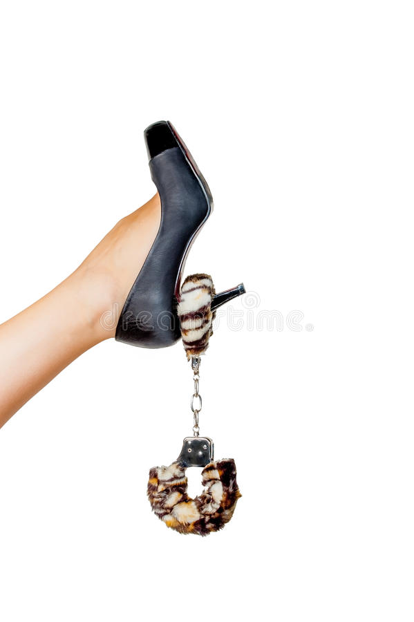 Woman's leg and fetishes stock images