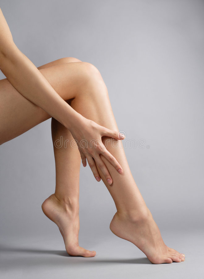 Woman's legs stock photos