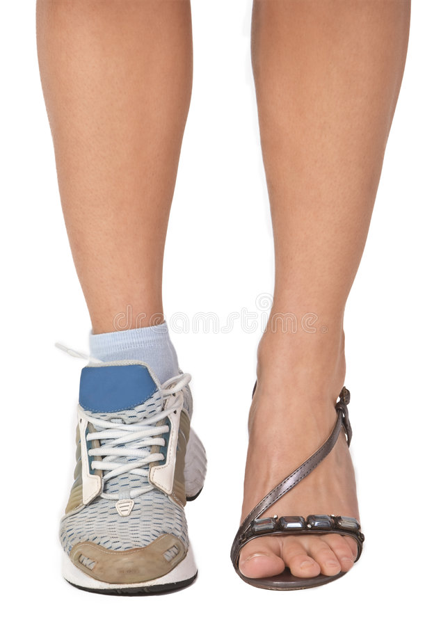 A woman's legs royalty free stock images