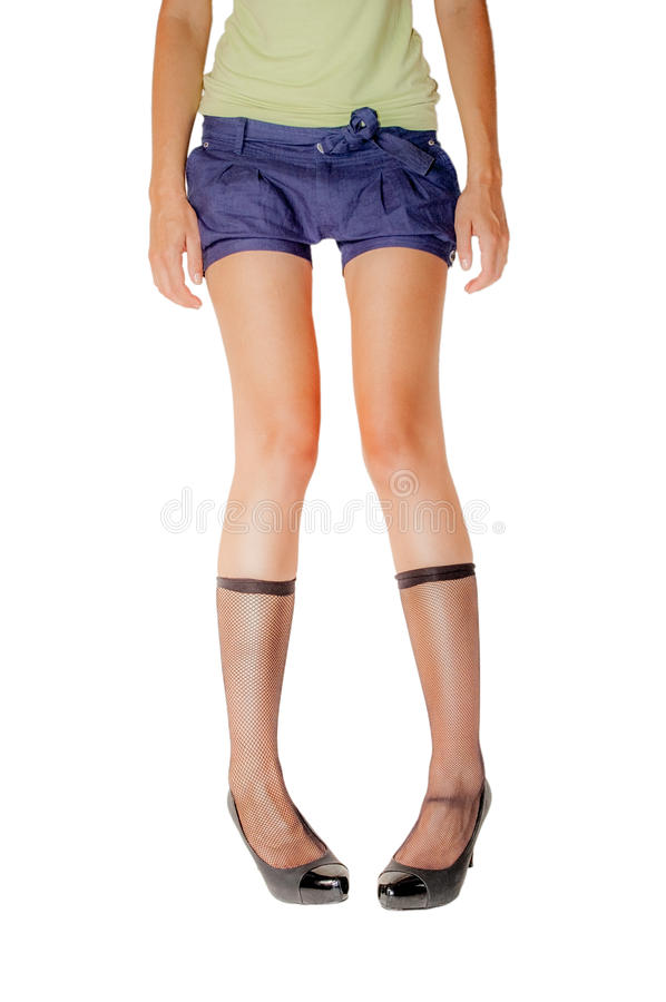 Woman's legs fetish royalty free stock photography