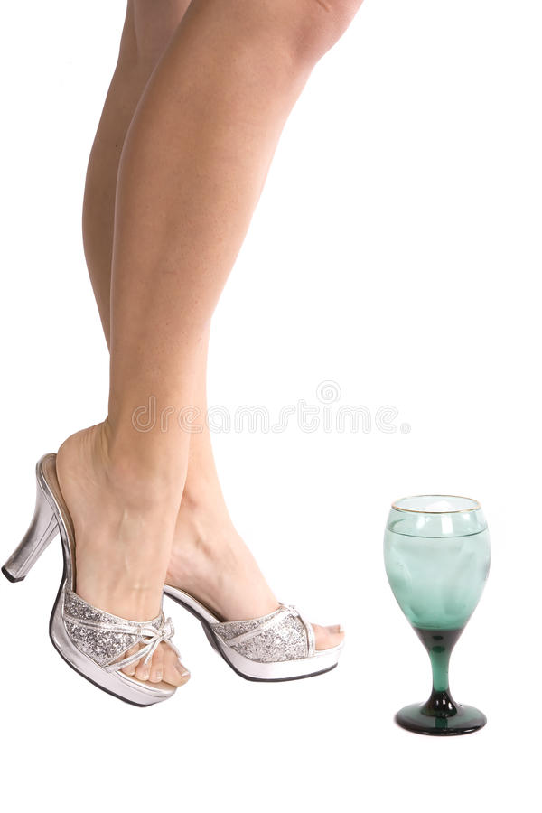 Download Woman's legs with glass stock image. Image of white, nail - 11654355