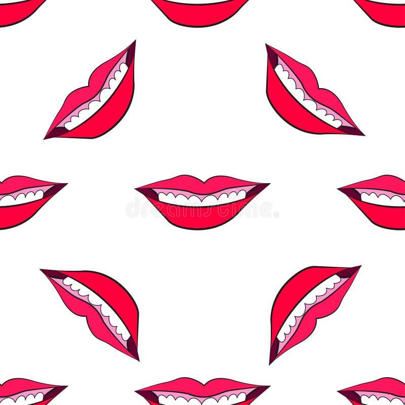 Free Woman`s Lip Seamless 2-1 Stock Photography - 99425412