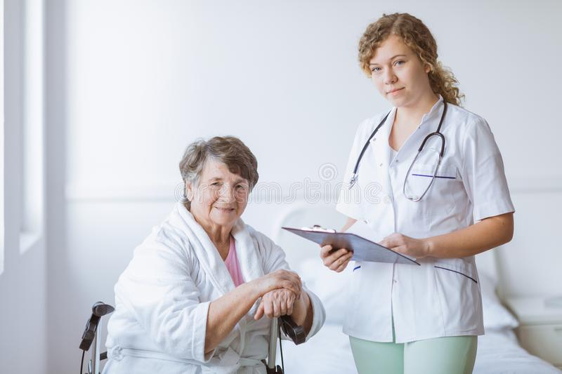 Woman`s medical history stock photo