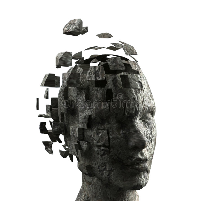 Woman's mind stock illustration