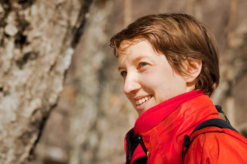 Woman's outdoors portrait stock photography