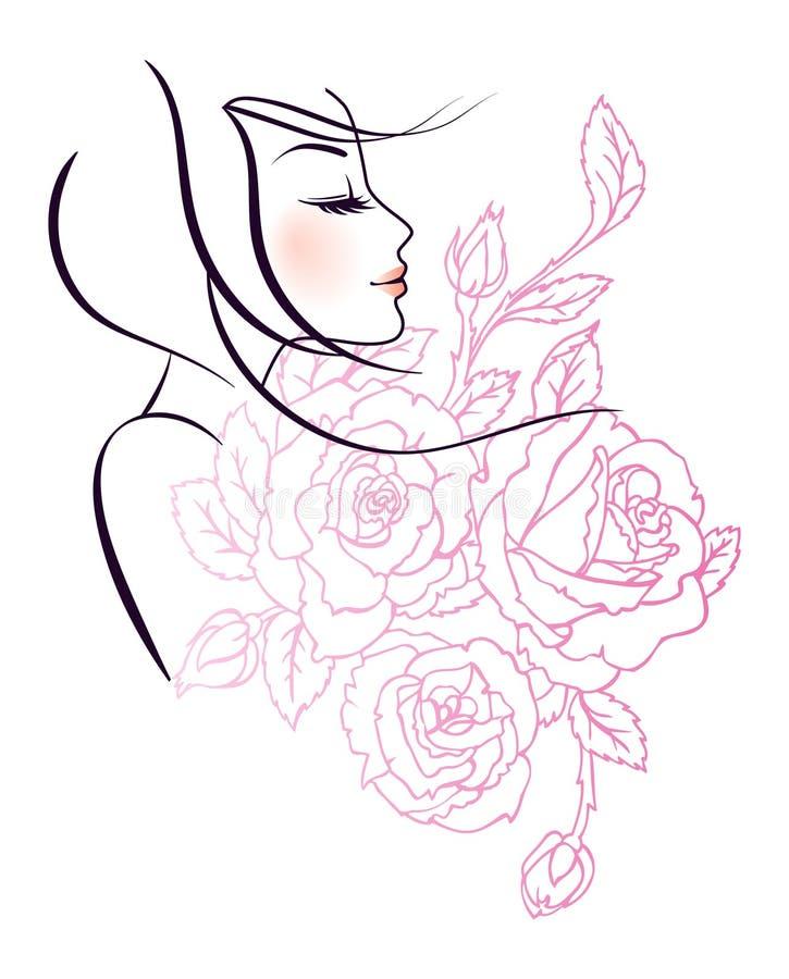 Woman's profile royalty free illustration