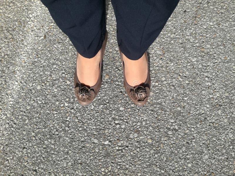 Woman& x27; s-Schuhe lizenzfreies stockbild
