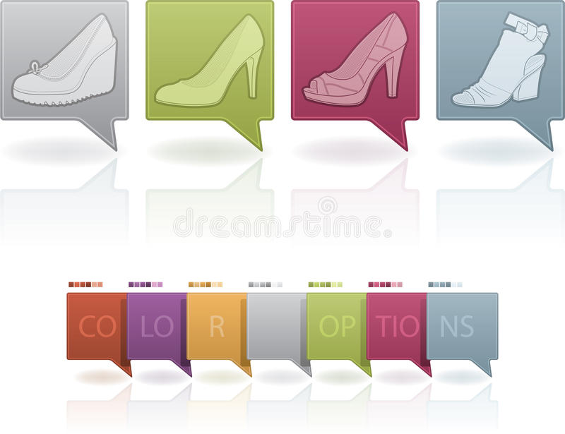 Woman's Shoes royalty free illustration
