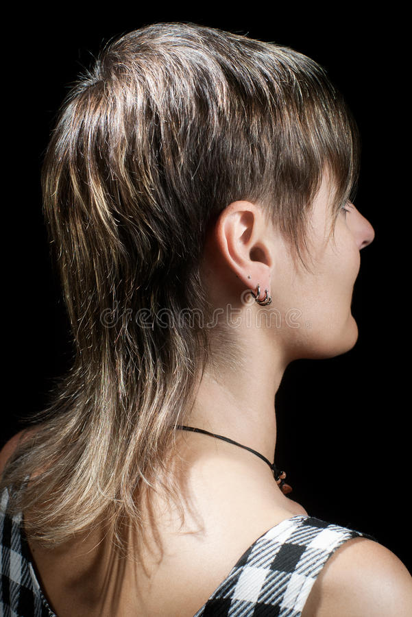 Download Woman's short haircut stock photo. Image of hair, side - 14854786