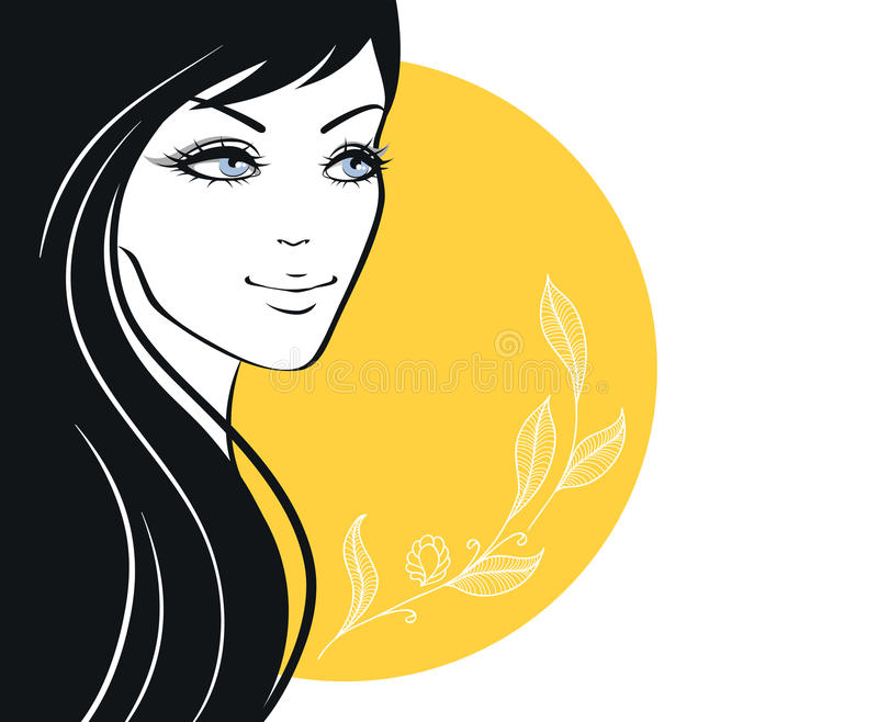Woman's silhouette. Vector illustration of Woman's silhouette stock illustration