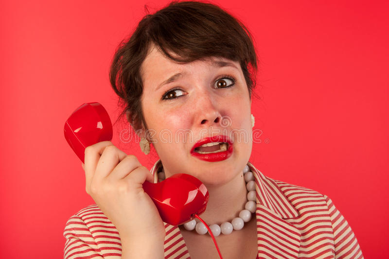 Download Woman with sad phone call stock photo. Image of face - 26459056