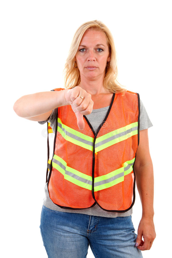 Woman in safety vest royalty free stock photography