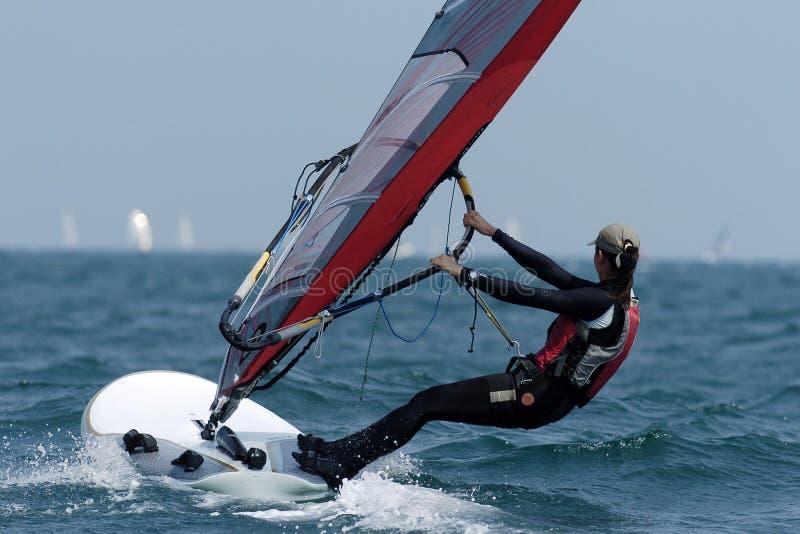 Woman sailing 01 royalty free stock images