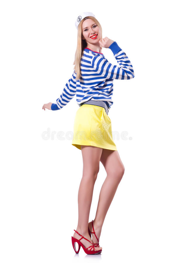 Download Woman in sailor costume stock image. Image of glamour - 32810593