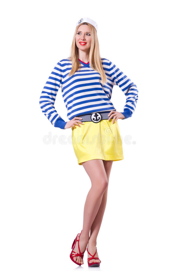 Download Woman In Sailor Costume Royalty Free Stock Images - Image: 32923449