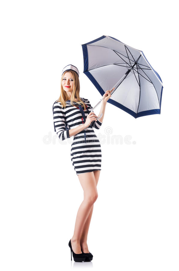 Download Woman sailor isolated stock photo. Image of happy, lifestyle - 29210084