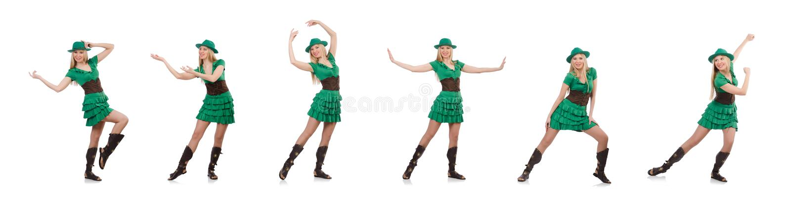 Woman in saint patrick concept royalty free stock photography