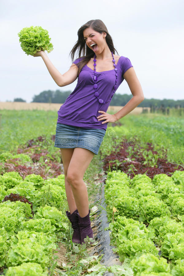 Download Woman With A Salad. Royalty Free Stock Images - Image: 10374359