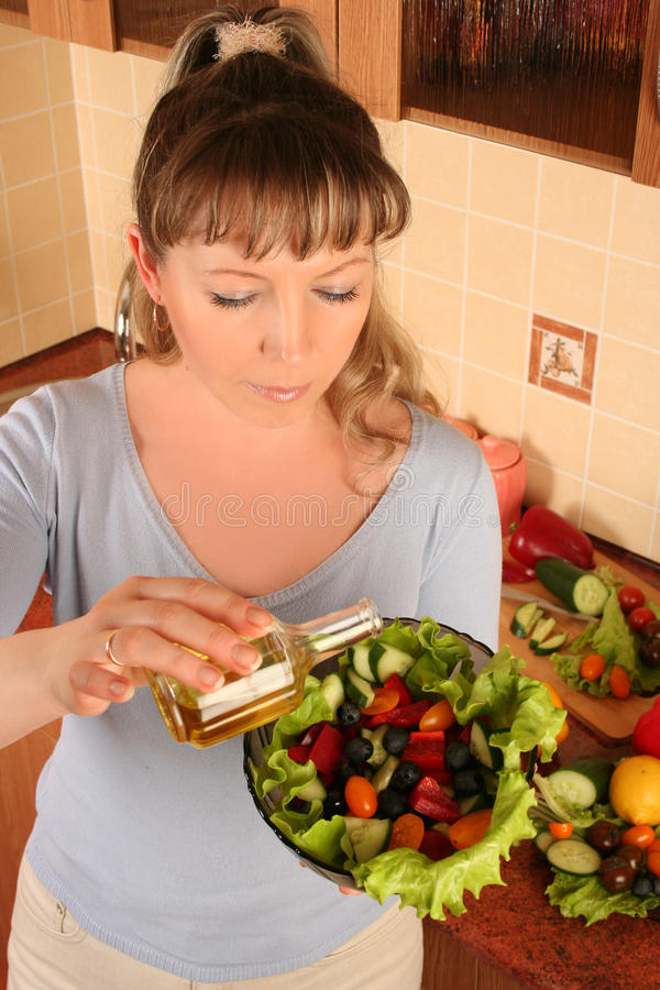 Download Woman and salaf stock photo. Image of indoors, caucasian - 16067924